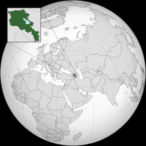 Location of Armenia